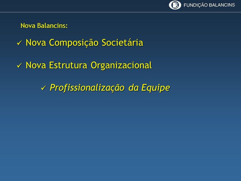 Nova Composição Societária Nova Estrutura Organizacional