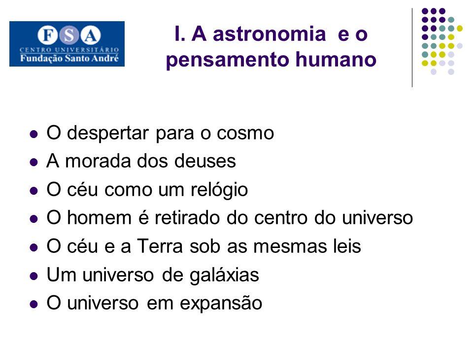 I. A astronomia e o pensamento humano