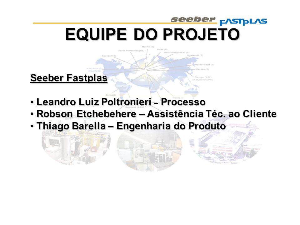 EQUIPE DO PROJETO Seeber Fastplas Leandro Luiz Poltronieri – Processo