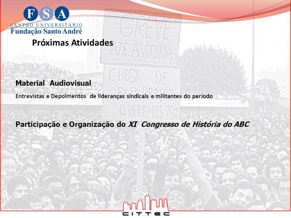 Participação e Organização do XI Congresso de História do ABC