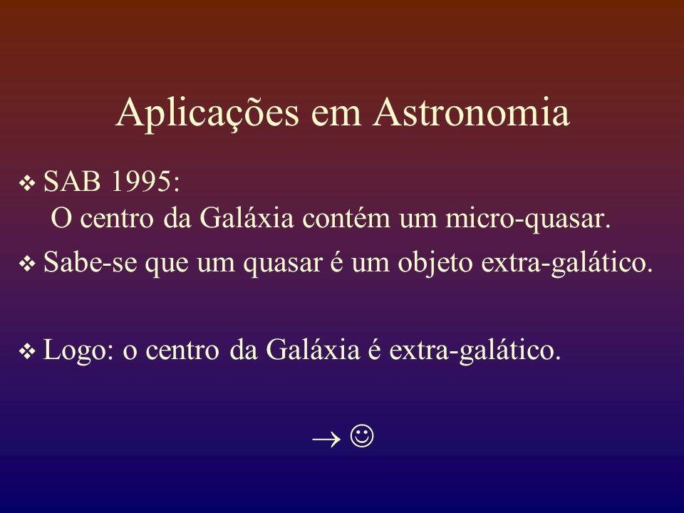 Aplicações em Astronomia