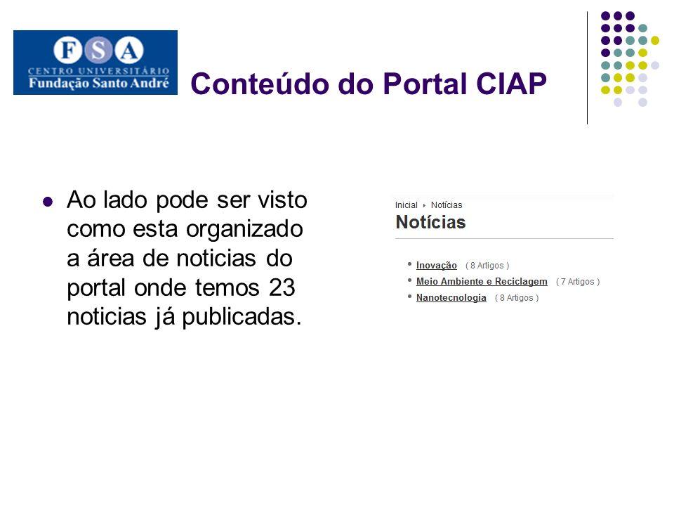 Conteúdo do Portal CIAP