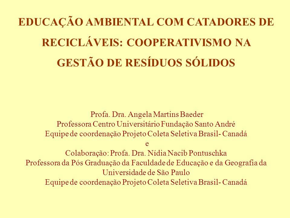 EDUCAÇÃO AMBIENTAL COM CATADORES DE RECICLÁVEIS: COOPERATIVISMO NA GESTÃO DE RESÍDUOS SÓLIDOS