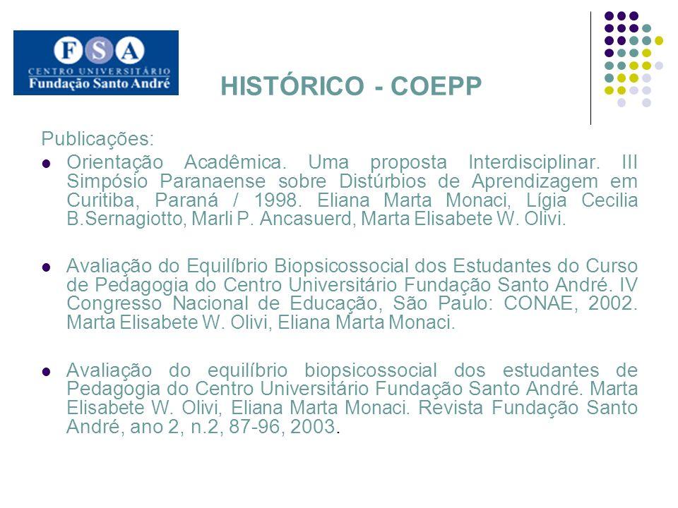 HISTÓRICO - COEPP Publicações:
