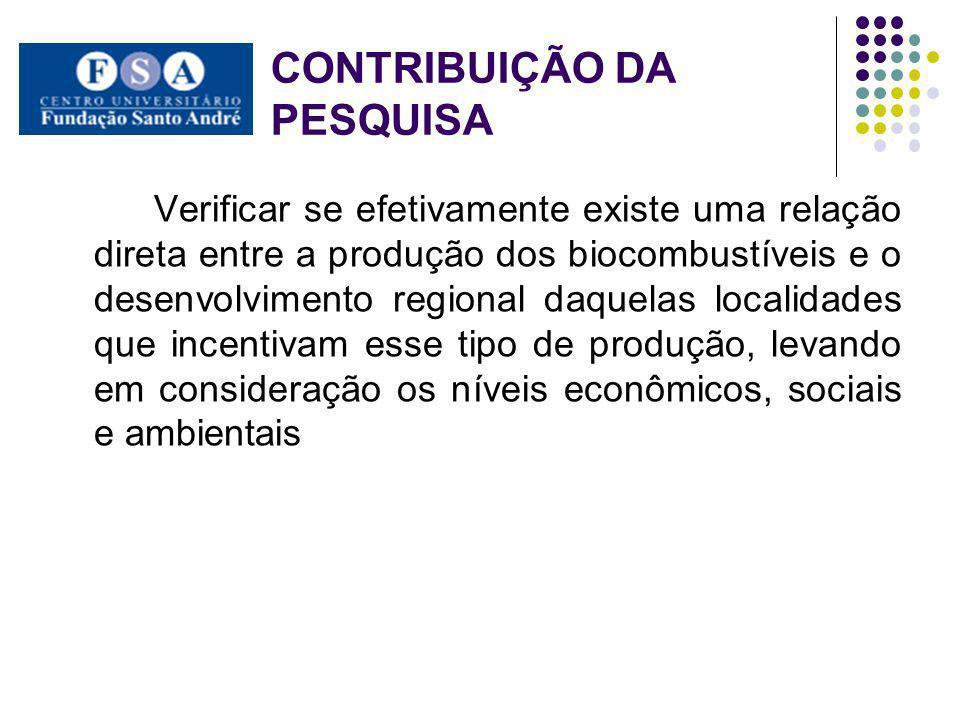 CONTRIBUIÇÃO DA PESQUISA