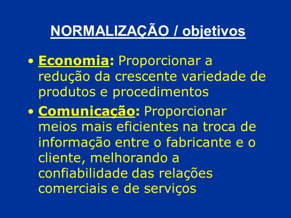 NORMALIZAÇÃO / objetivos