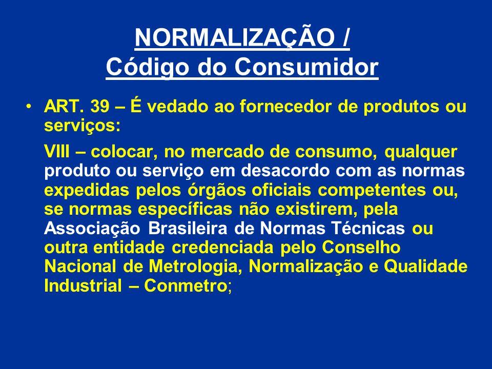 NORMALIZAÇÃO / Código do Consumidor