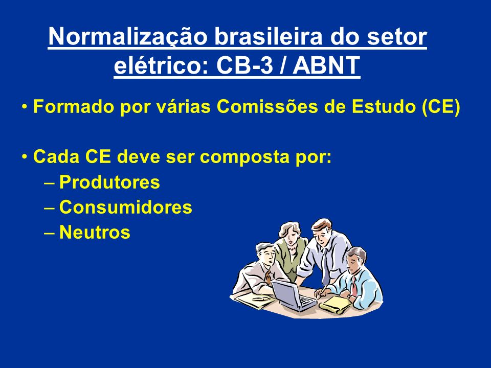Normalização brasileira do setor elétrico: CB-3 / ABNT