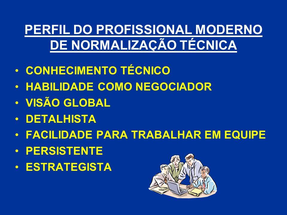 PERFIL DO PROFISSIONAL MODERNO DE NORMALIZAÇÃO TÉCNICA