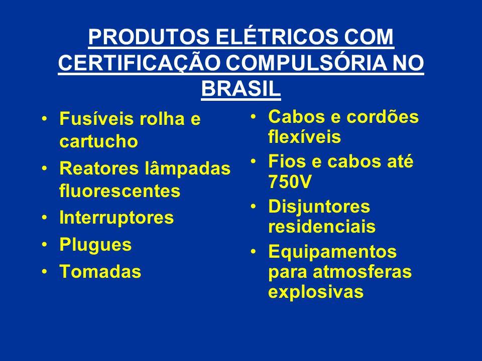 PRODUTOS ELÉTRICOS COM CERTIFICAÇÃO COMPULSÓRIA NO BRASIL