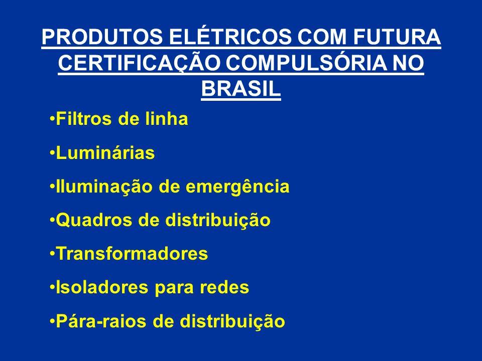 PRODUTOS ELÉTRICOS COM FUTURA CERTIFICAÇÃO COMPULSÓRIA NO BRASIL