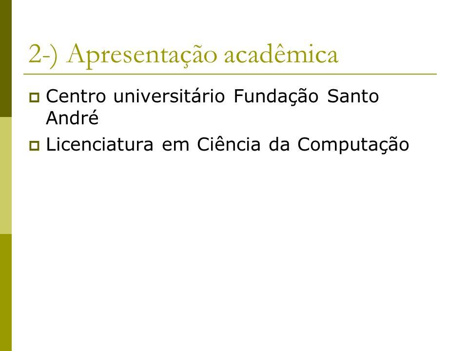2-) Apresentação acadêmica