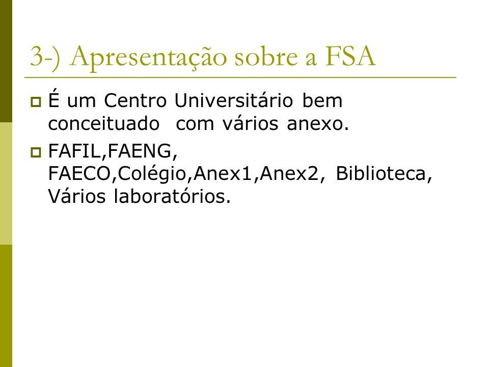 3-) Apresentação sobre a FSA