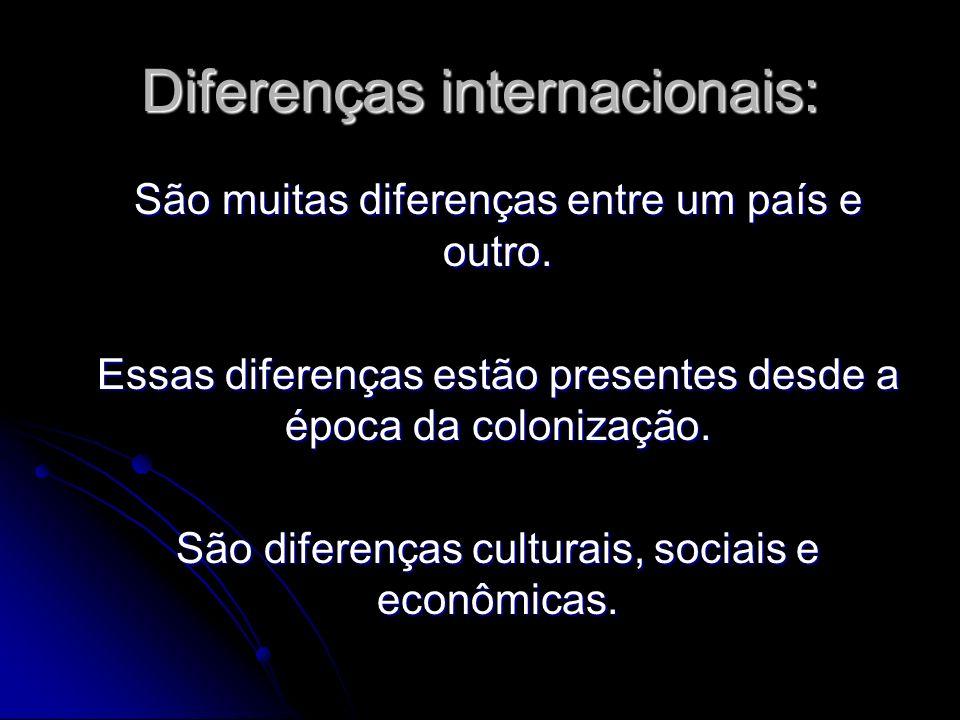 Diferenças internacionais: