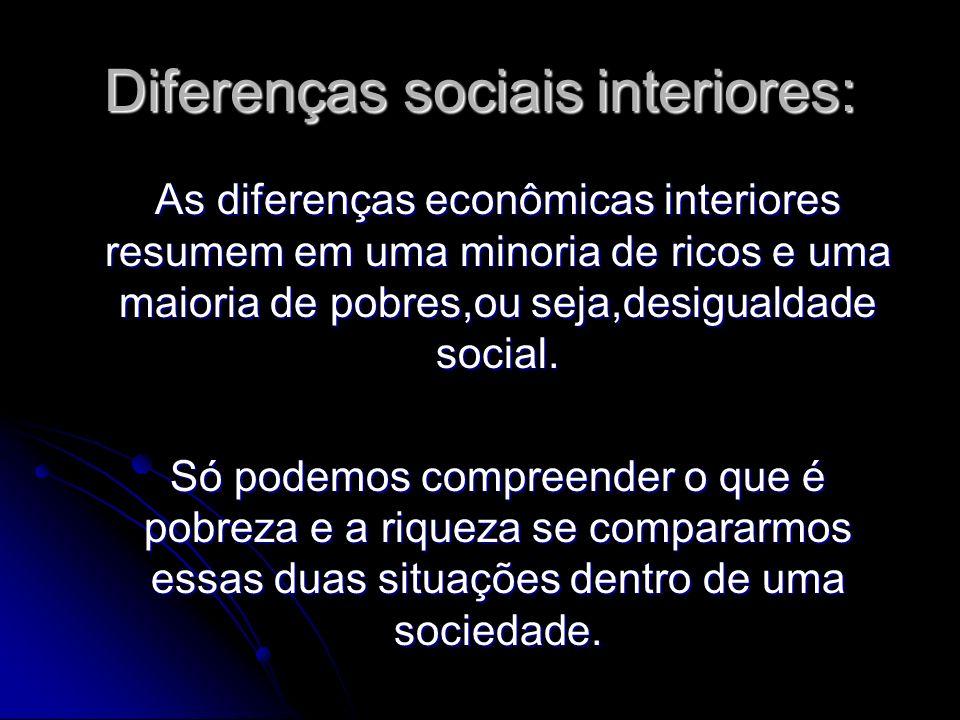 Diferenças sociais interiores: