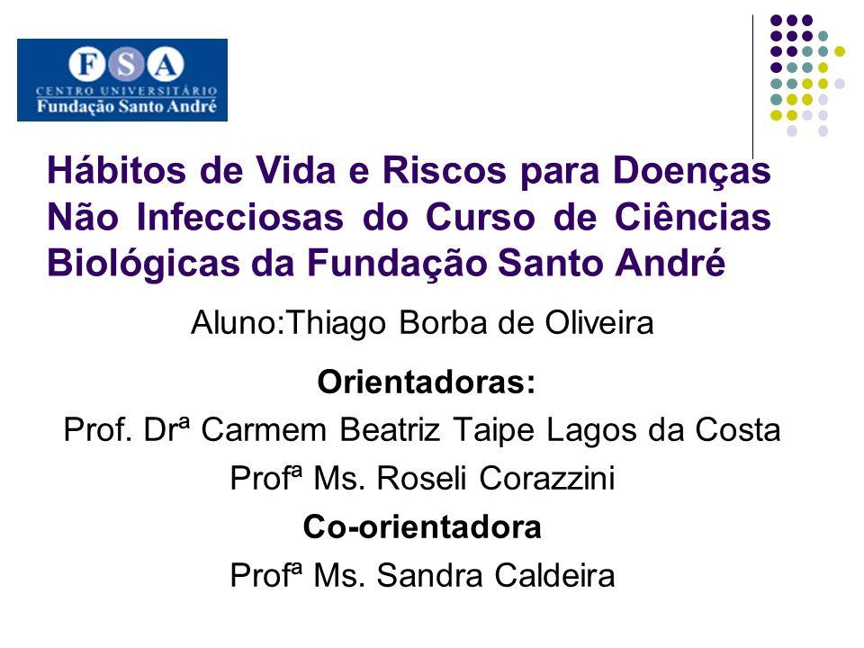Hábitos de Vida e Riscos para Doenças Não Infecciosas do Curso de Ciências Biológicas da Fundação Santo André