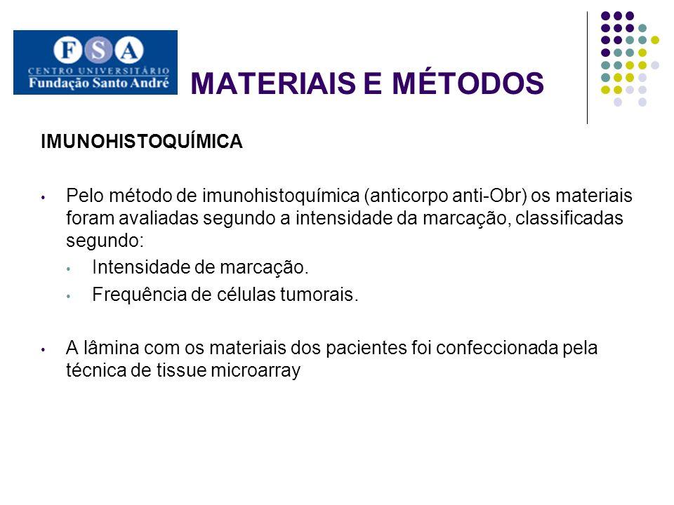 MATERIAIS E MÉTODOS IMUNOHISTOQUÍMICA
