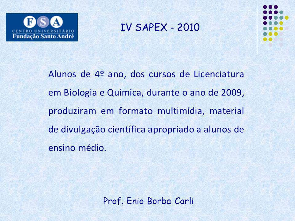 IV SAPEX - 2010