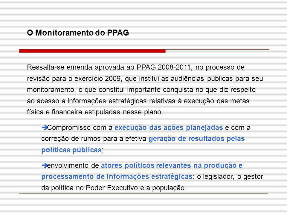 O Monitoramento do PPAG