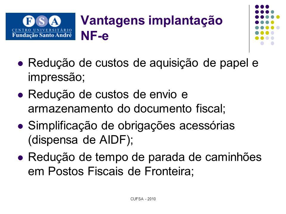 Vantagens implantação NF-e