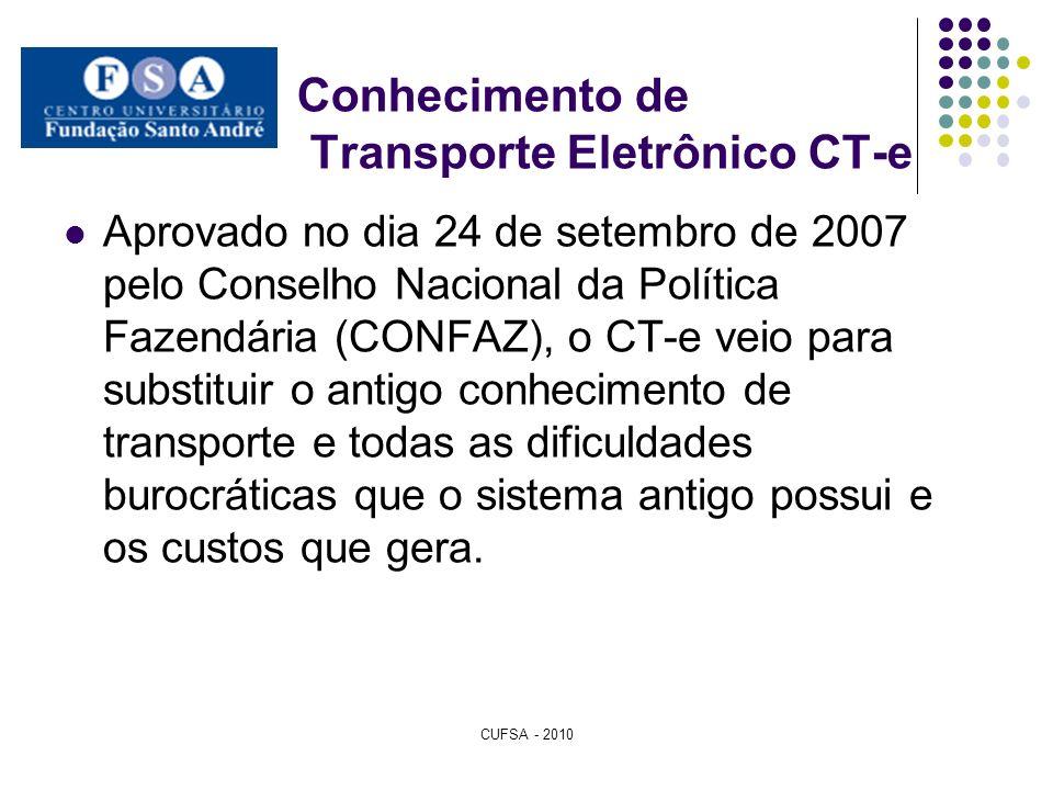 Conhecimento de Transporte Eletrônico CT-e
