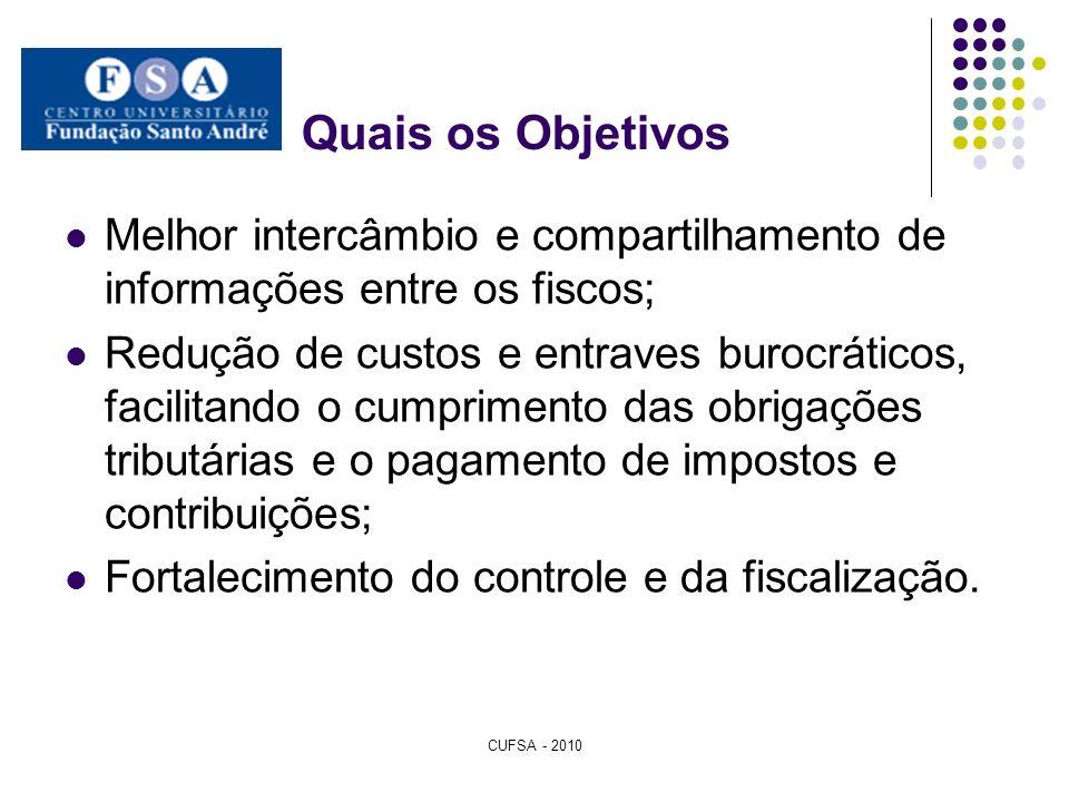 Quais os ObjetivosMelhor intercâmbio e compartilhamento de informações entre os fiscos;
