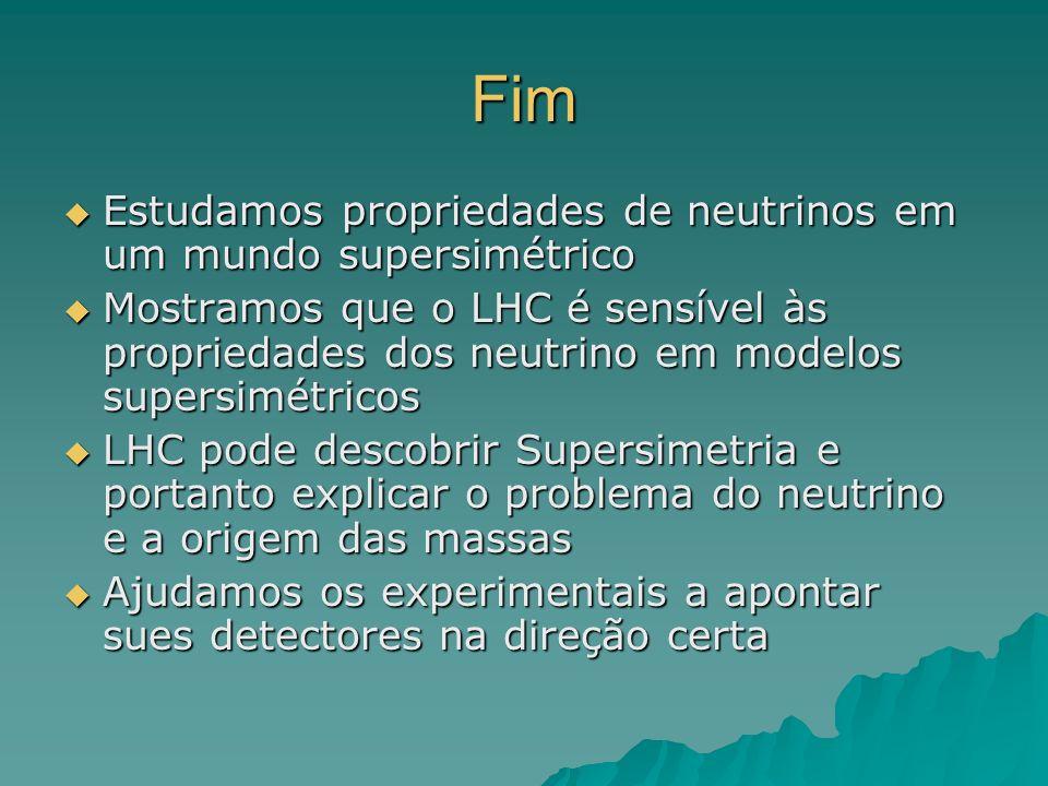 Fim Estudamos propriedades de neutrinos em um mundo supersimétrico