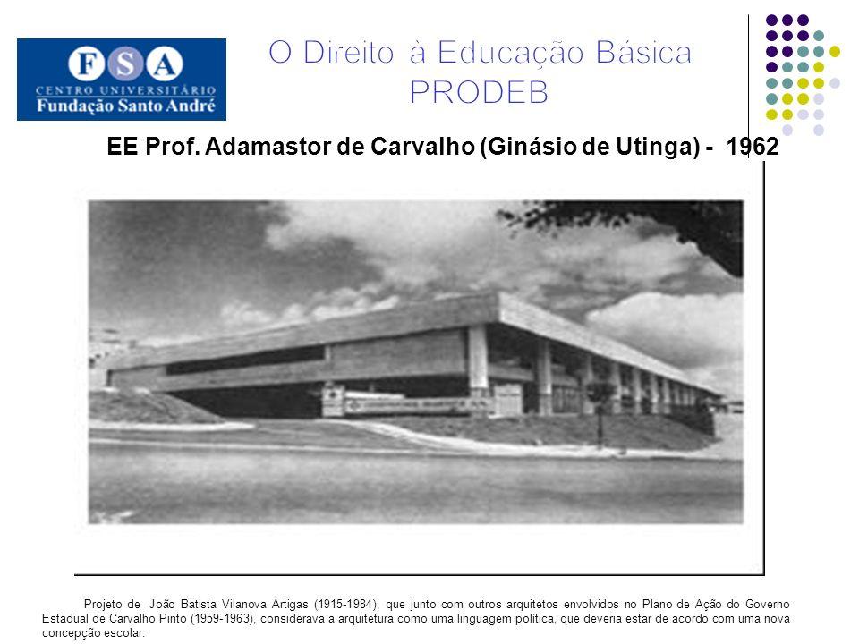 EE Prof. Adamastor de Carvalho (Ginásio de Utinga) - 1962