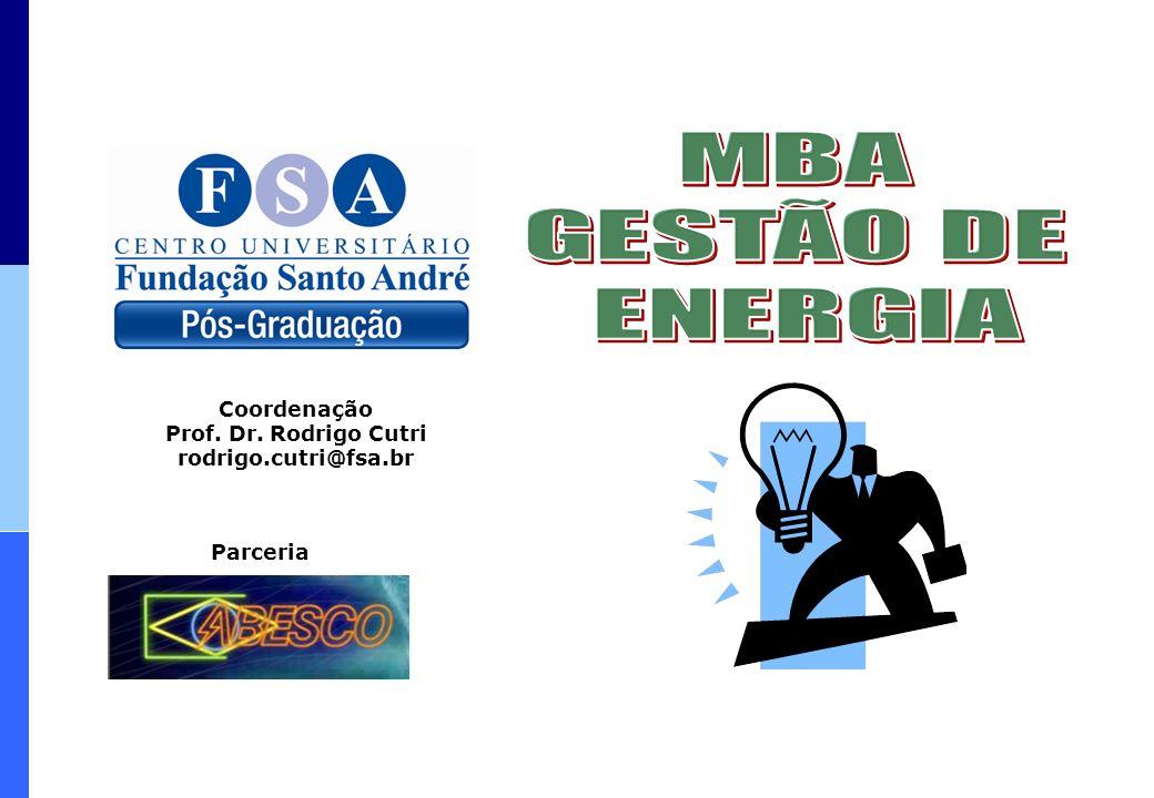 MBA GESTÃO DE ENERGIA Coordenação Prof. Dr. Rodrigo Cutri