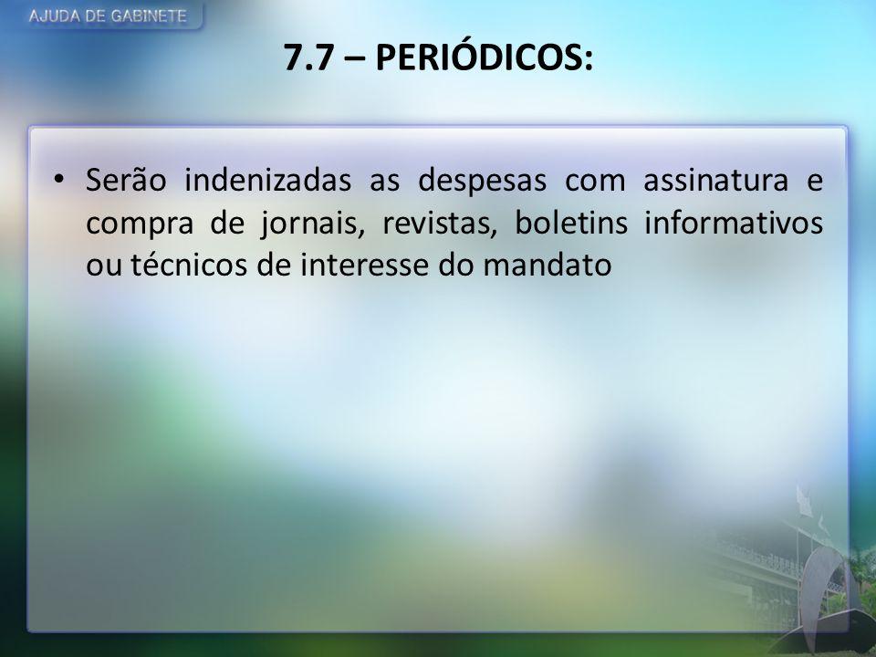 7.7 – PERIÓDICOS: