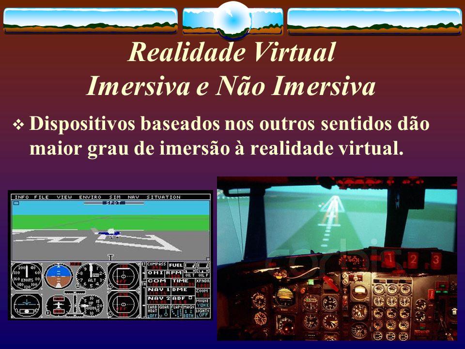 Realidade Virtual Imersiva e Não Imersiva
