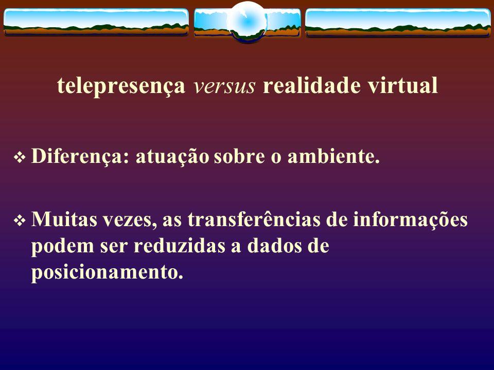 telepresença versus realidade virtual