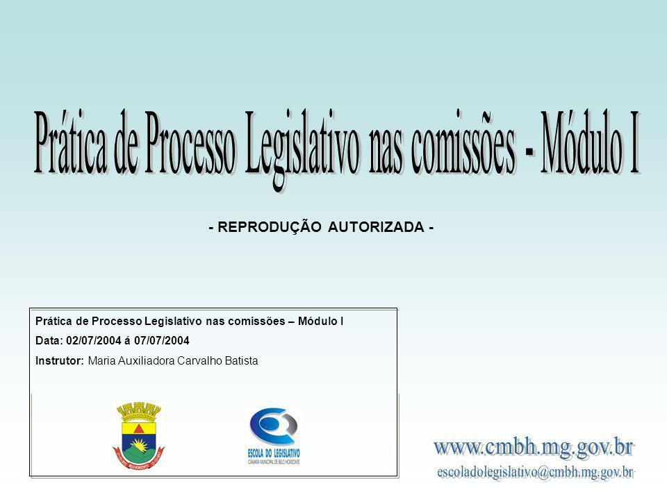 Prática de Processo Legislativo nas comissões - Módulo I