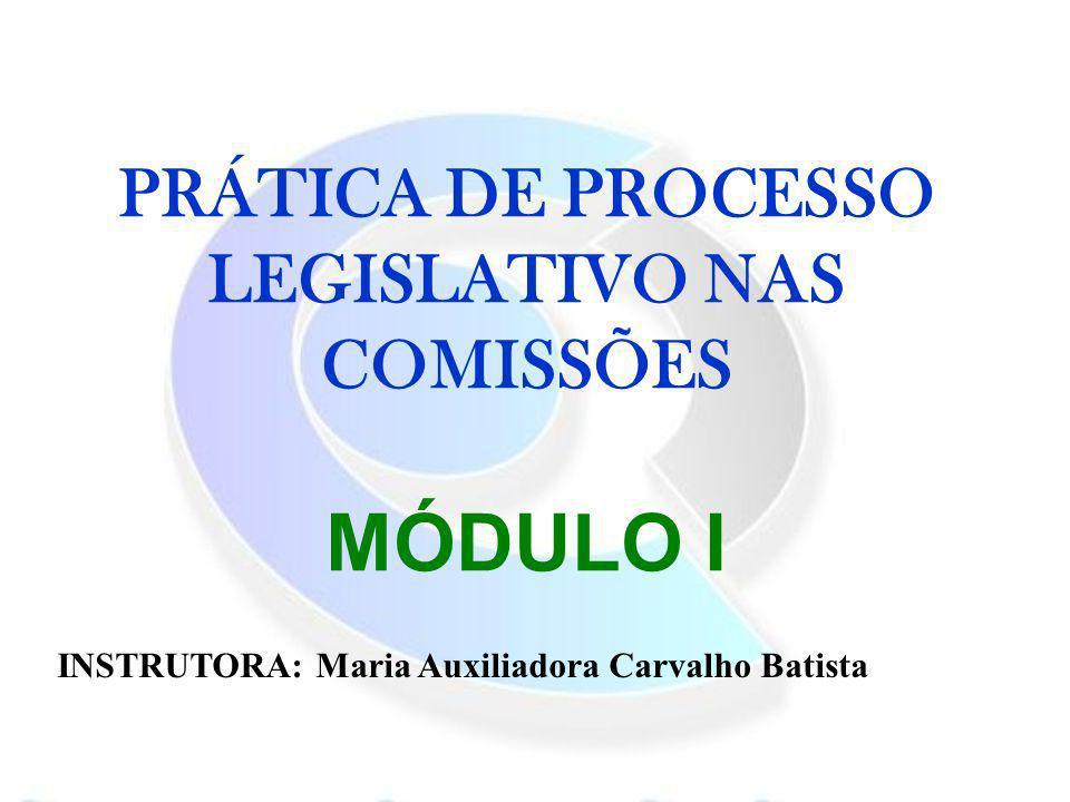 PRÁTICA DE PROCESSO LEGISLATIVO NAS COMISSÕES MÓDULO I