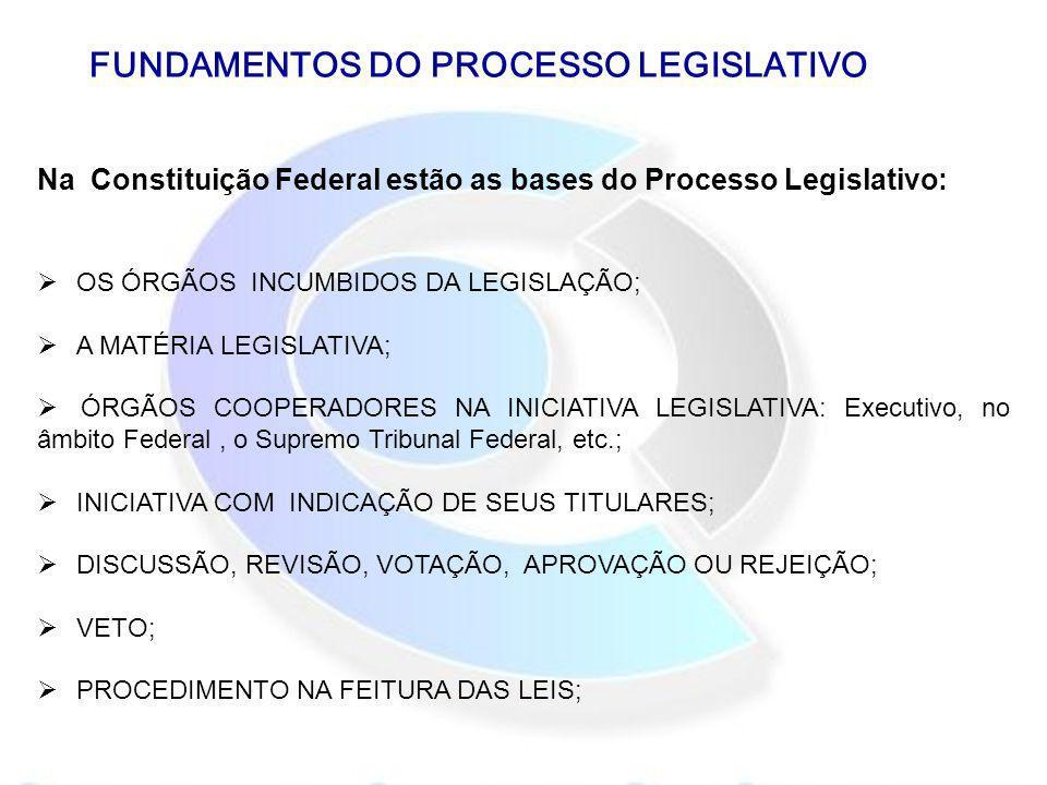 FUNDAMENTOS DO PROCESSO LEGISLATIVO