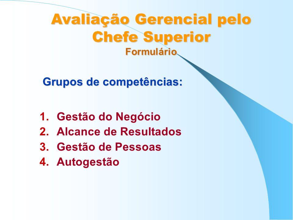 Grupos de competências:
