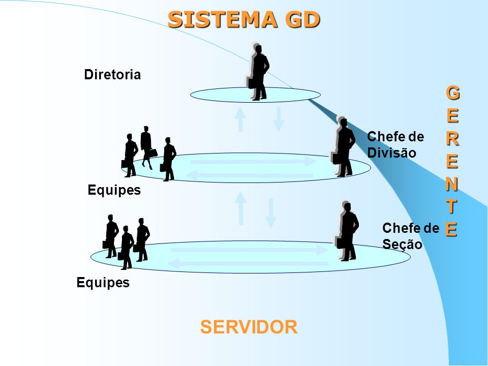 SISTEMA GD GERENTE SERVIDOR Diretoria Chefe de Divisão Chefe de Seção
