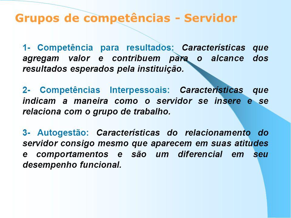 Grupos de competências - Servidor