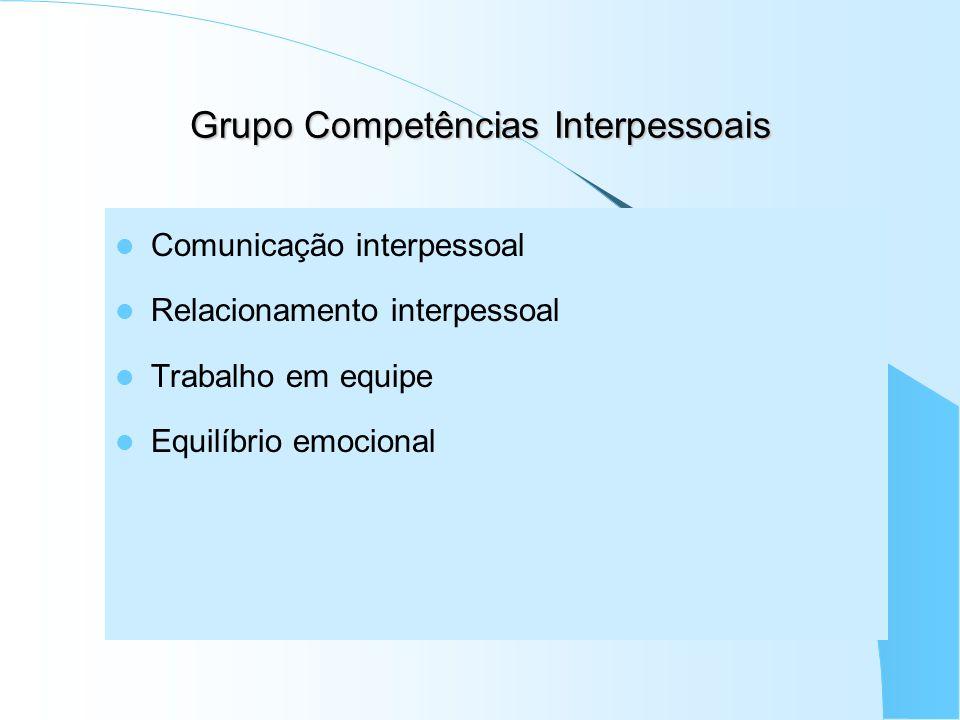 Grupo Competências Interpessoais