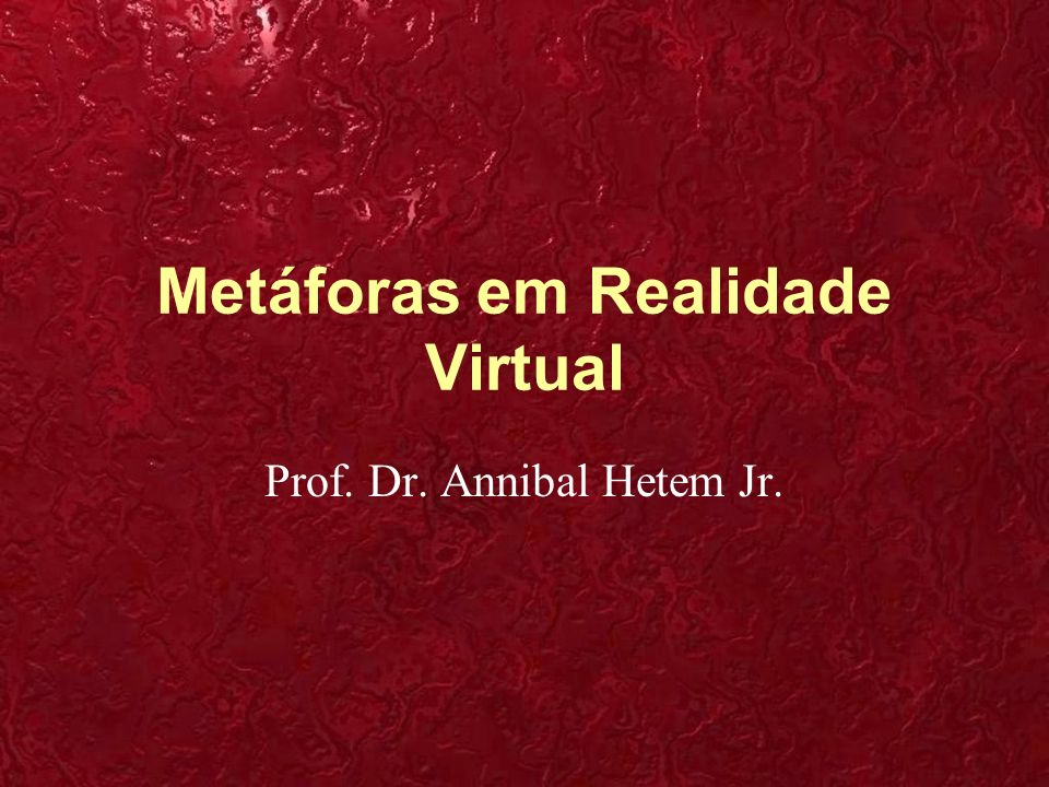 Metáforas em Realidade Virtual