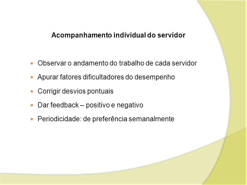 Acompanhamento individual do servidor