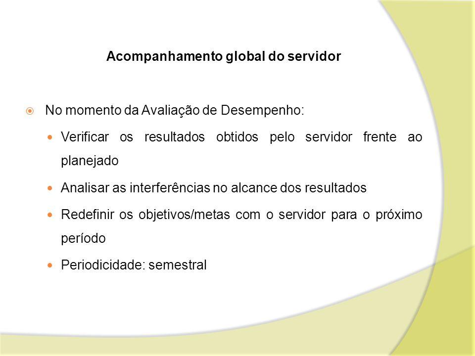 Acompanhamento global do servidor