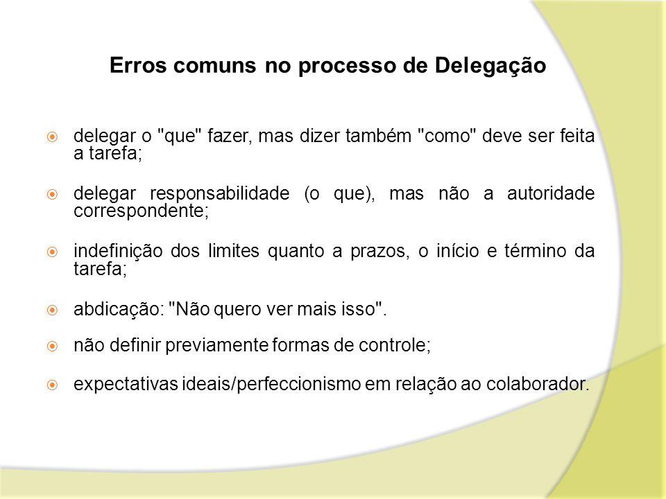 Erros comuns no processo de Delegação