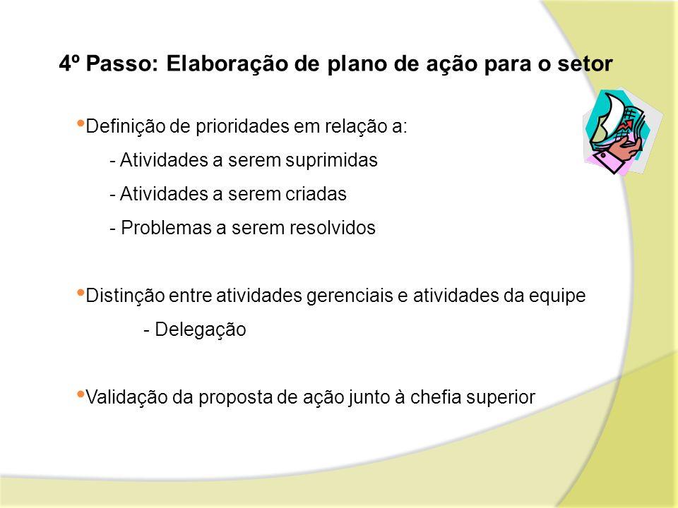 4º Passo: Elaboração de plano de ação para o setor