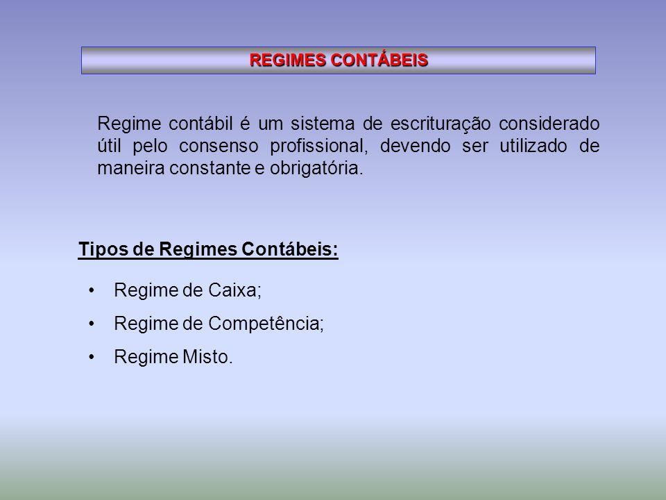 Tipos de Regimes Contábeis: