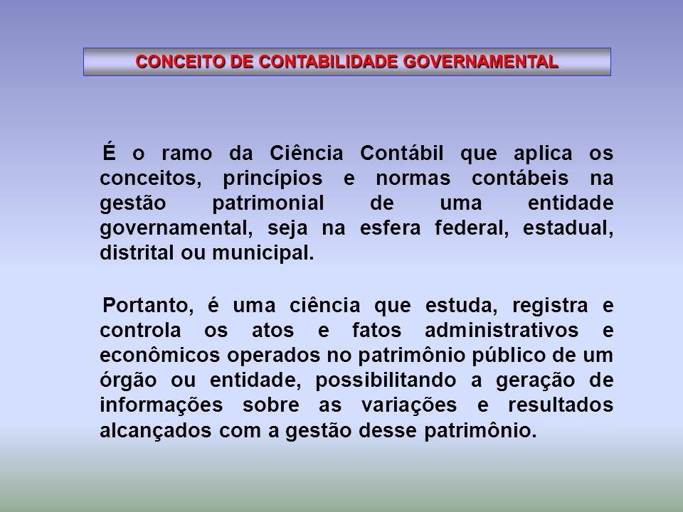CONCEITO DE CONTABILIDADE GOVERNAMENTAL