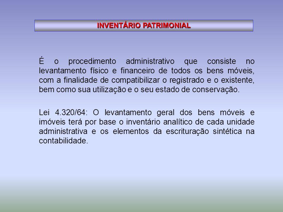 INVENTÁRIO PATRIMONIAL