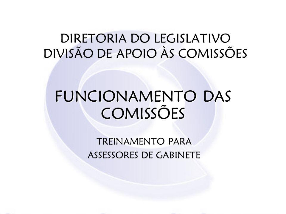DIRETORIA DO LEGISLATIVO DIVISÃO DE APOIO ÀS COMISSÕES