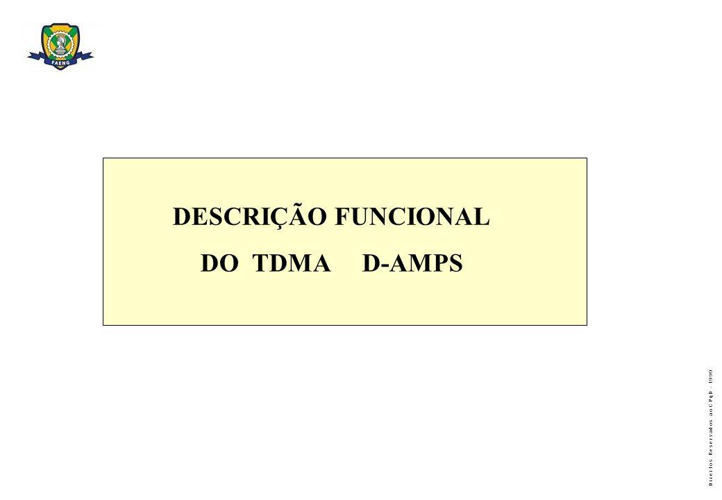 DESCRIÇÃO FUNCIONAL DO TDMA D-AMPS