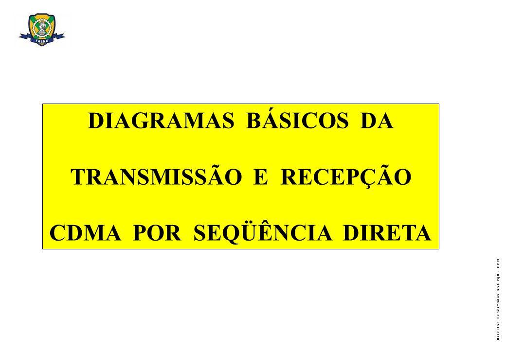 TRANSMISSÃO E RECEPÇÃO CDMA POR SEQÜÊNCIA DIRETA